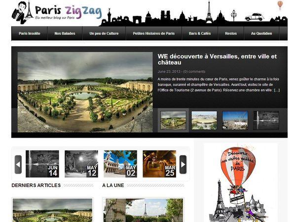 Paris ZigZag homepage