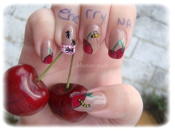 Concours cherry nail art
