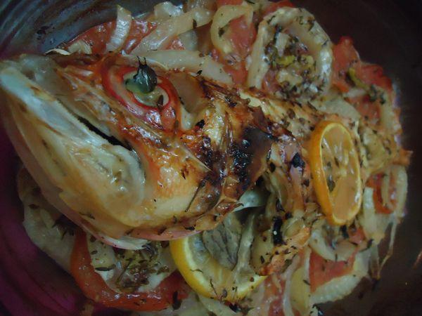 Rascasse au four sur lit de fenouil le blog de recettes a hino - Cuisiner le fenouil au four ...