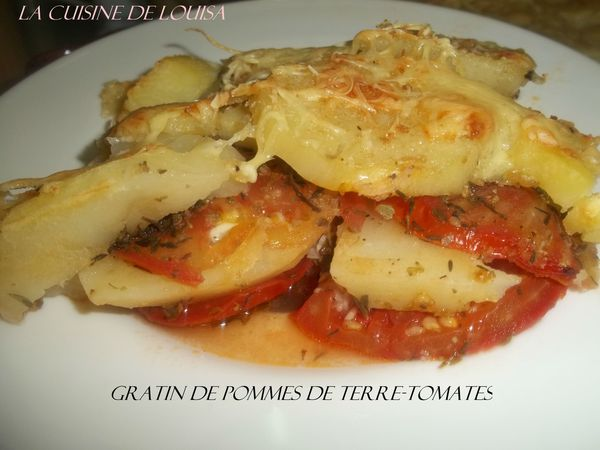 gratin de pommes de terre tomates le blog de lacuisinelouisa. Black Bedroom Furniture Sets. Home Design Ideas