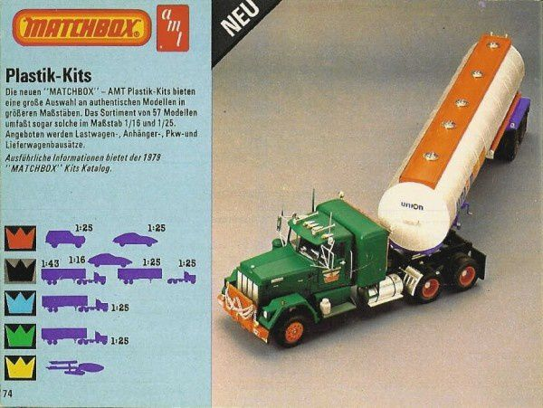 p74 katalog matchbox 1979.80 plastik kits