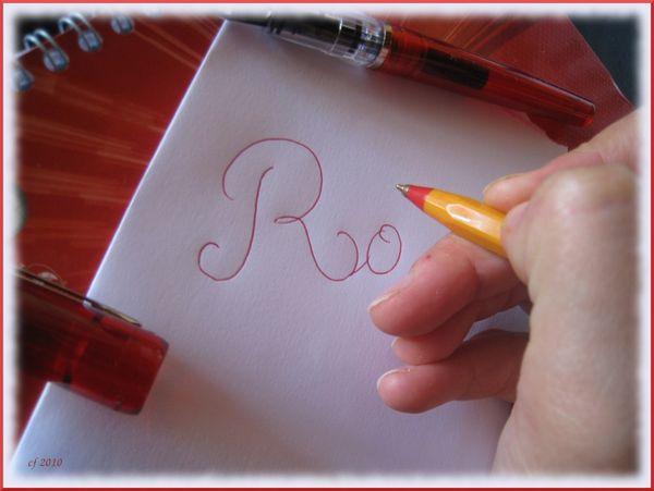 Rouge écriture