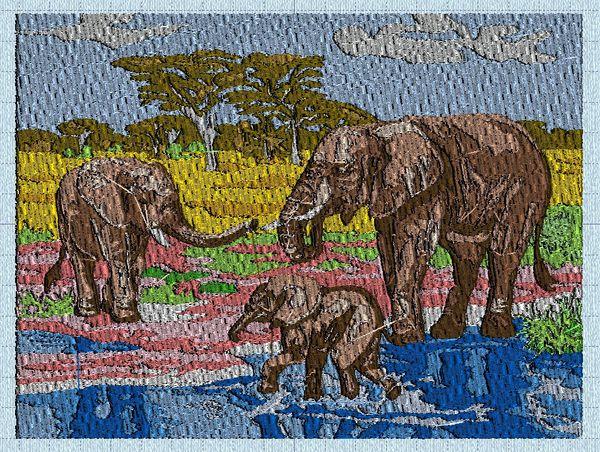 Machine éléphants Entier