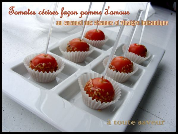 tomates cerise au caramel de s same fa on pomme d amour a toute saveur. Black Bedroom Furniture Sets. Home Design Ideas