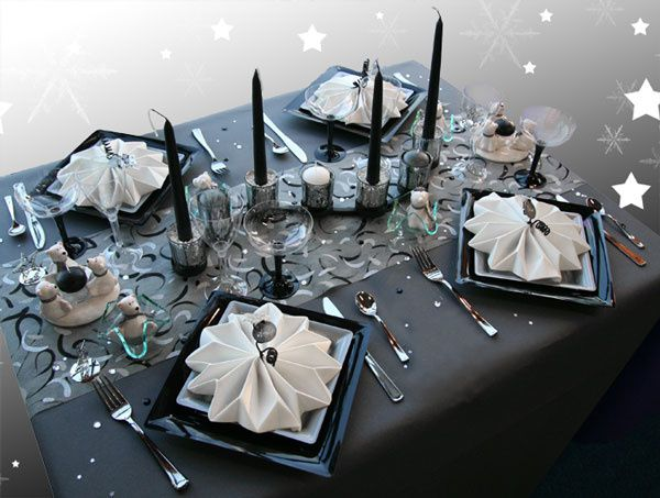 D cos de table o autres for Table de noel argent et blanc