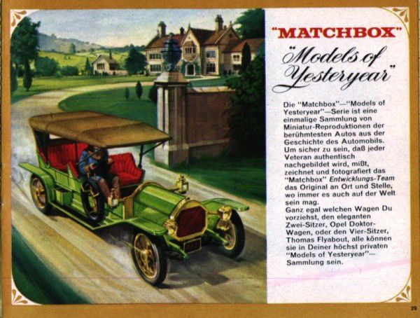 catalogue matchbox 1966 p29 models of yesteryear