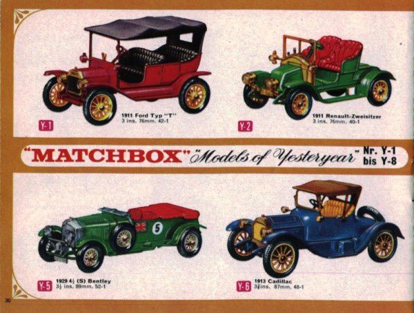 catalogue matchbox 1966 p30 ford type T renault 2 places be