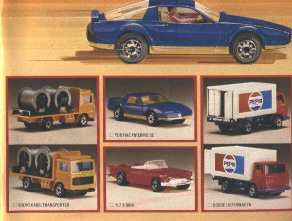 catalogue matchbox 1982-83 p07 dodge pepsi camion volvo