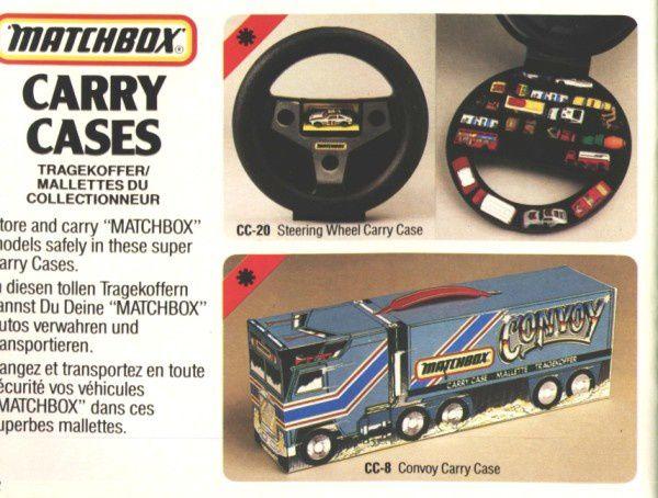catalogue matchbox 1984 p52 carry cases