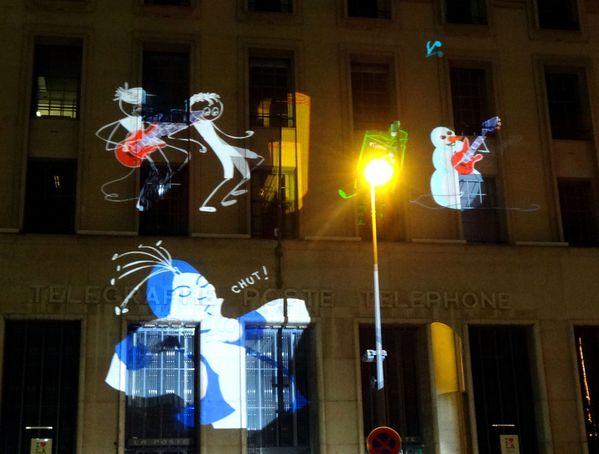 Fête des Lumières 2012 place Antonin Poncet