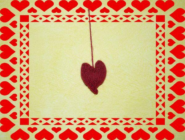 coeur tricoté