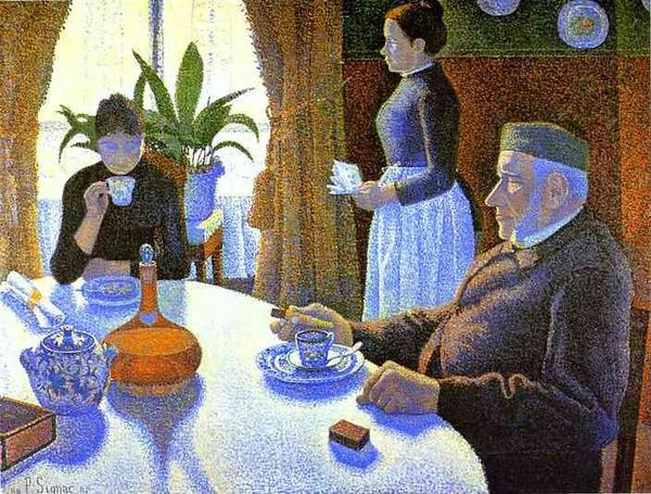 Signac Paul-Breakfast The Dining Room-1886-Kroller Muller,