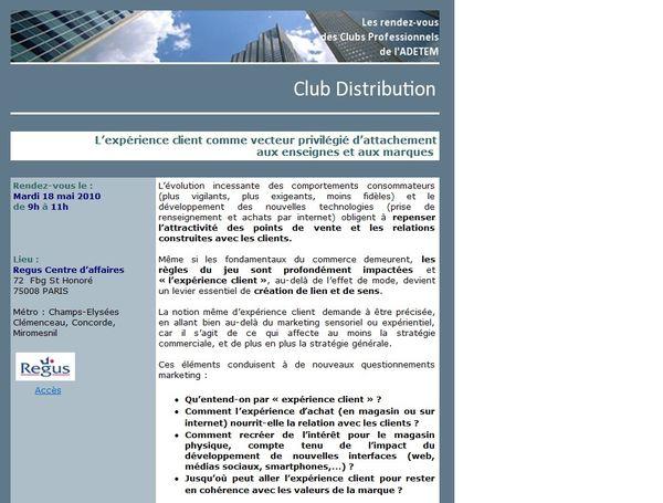 Adetem club distrib expérience client