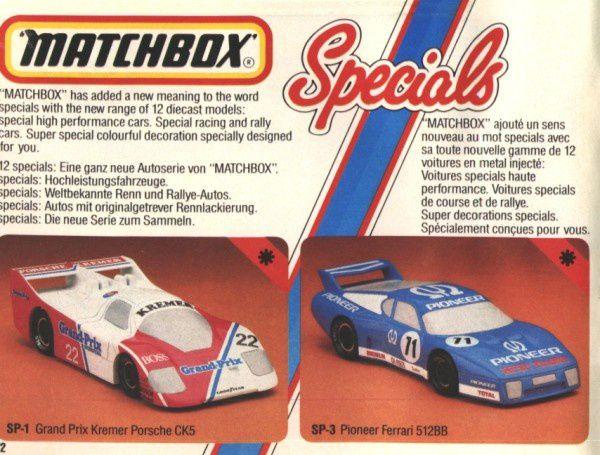 catalogue matchbox 1984 p22 kremer pioneer matchbox special