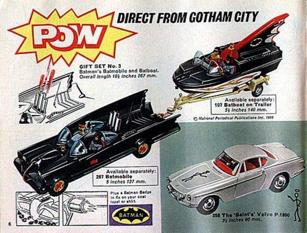 p06 batmobile corgi volvo p1800 the saint
