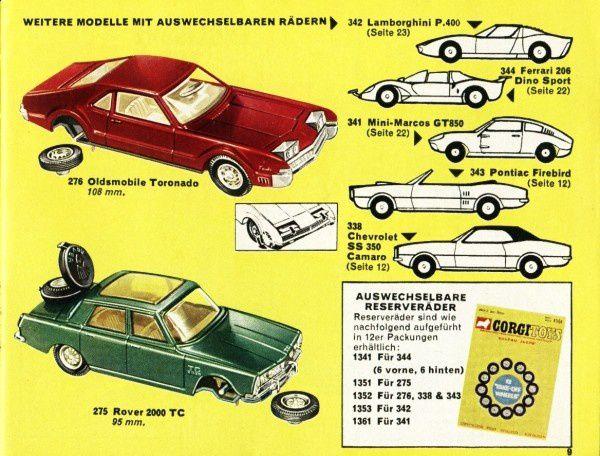 catalogue corgi 1969 p09 oldsmobile toronado