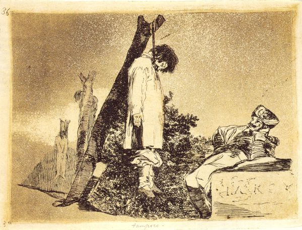 Goya la guerre pendu