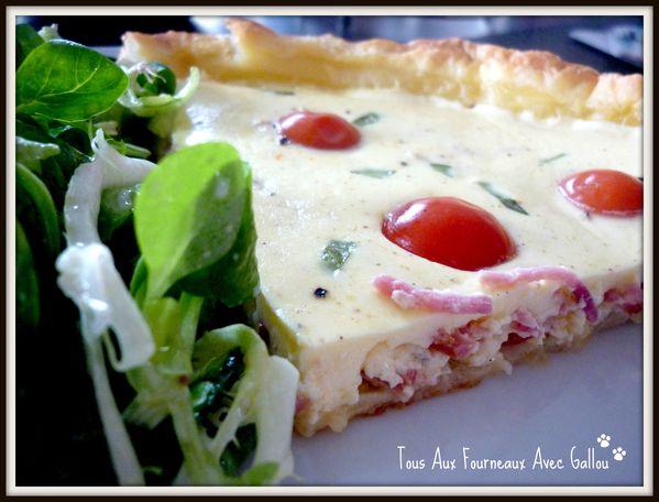 tarte rapé jambon tomates gruyère basilic et fromage blan