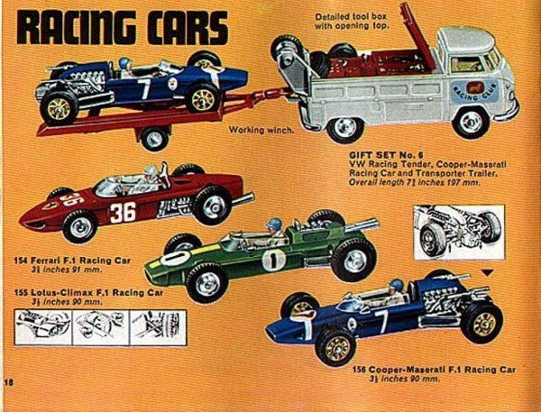 p18 racing car corgi combi pickup