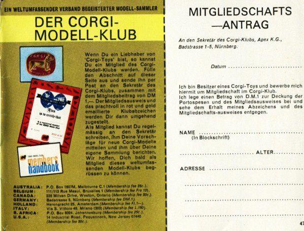 catalogue corgi 1969 p51
