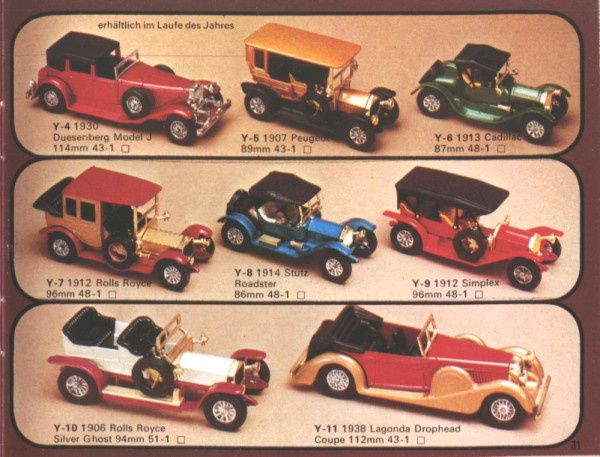 catalogue matchbox 1976 p31 duesenberg model j