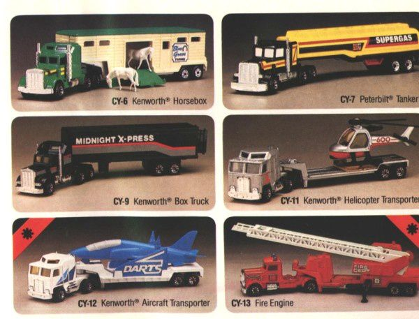 catalogue matchbox 1984 p17 kenworth helicoptere