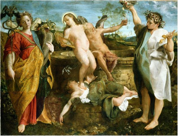 Annibale CARRACCI, An allegory of Truth and Time (1584-5)