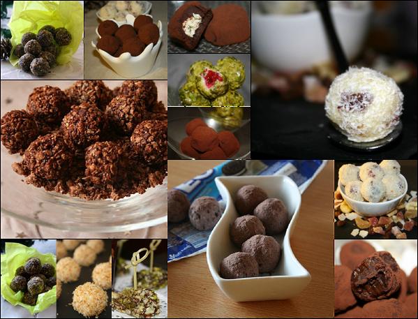Truffes au chocolat:les recettes