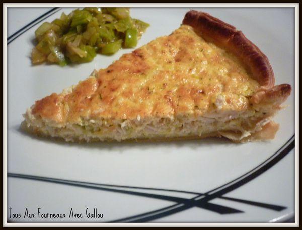 tarte salée fond de frigo poulet sauté (4)