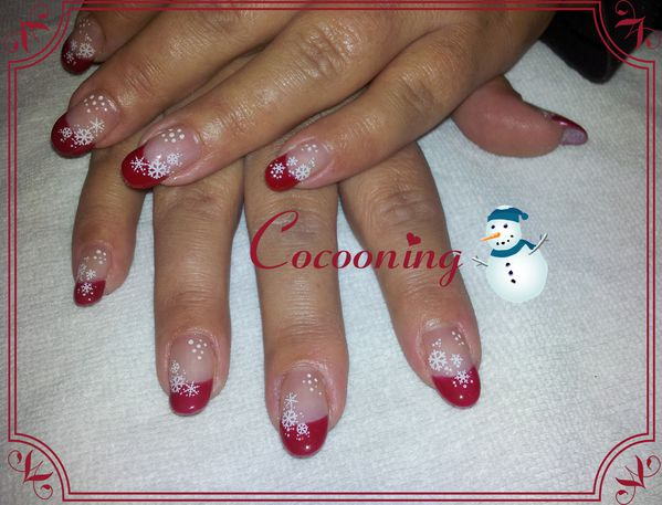Decoration ongle en gel noel
