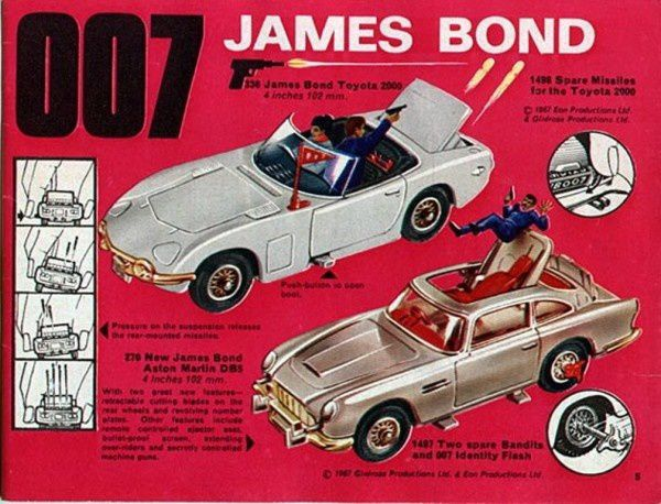 p05 toyota 2000 james bond 007 aston martin 007