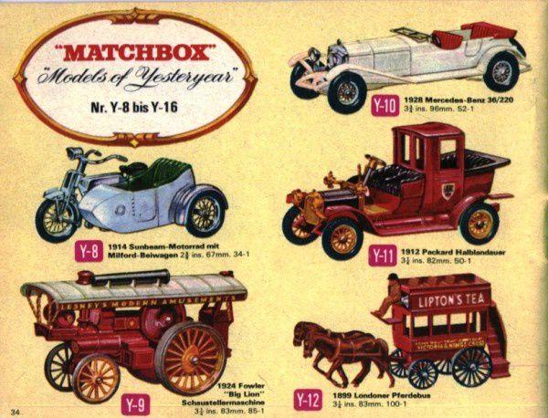 catalogue matchbox 1968 p34 deutsche katalog models of yest