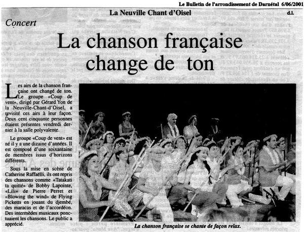 coup de chant 2001.06 Le Bulletin