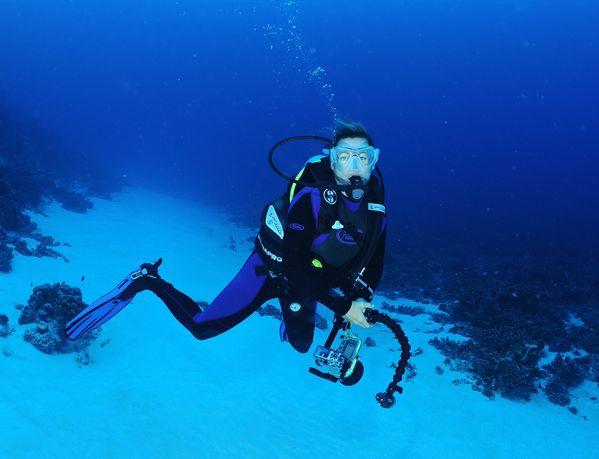 Faka sandrine sous l'eau
