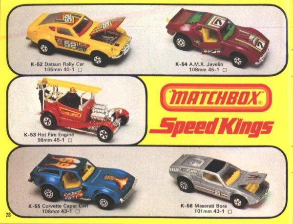 catalogue matchbox 1976 p28 corvette caper cart