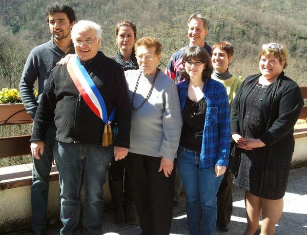 photo conseil municipal de razecueillé 2014