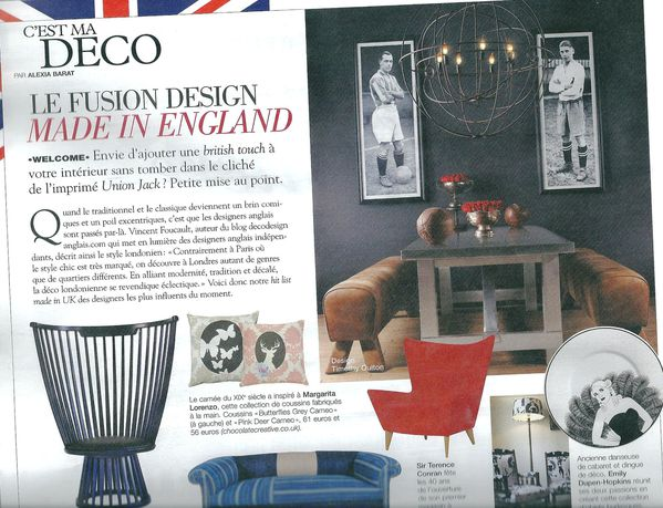 D co design anglais dans la presse d coration et for Design anglais decoration