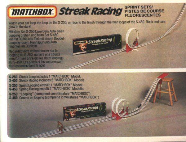 catalogue matchbox 1984 p51 pistes de courses fluorescentes