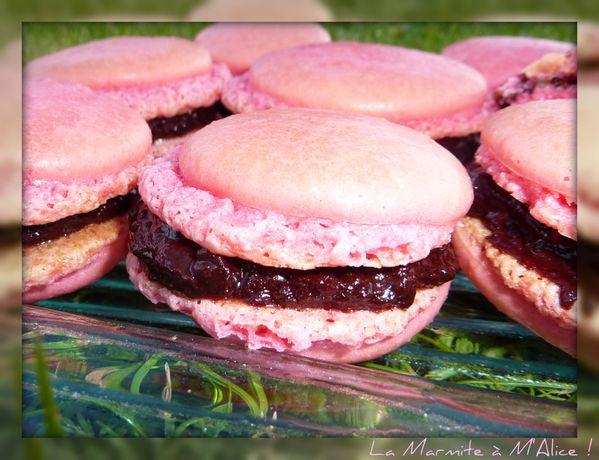 Macarons choco framboise3