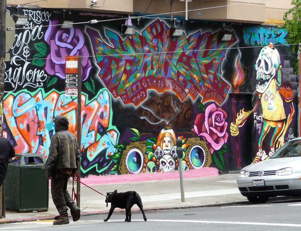 San Francisco Haight Ashbury fresque 1