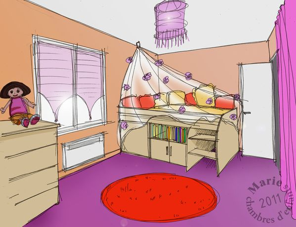 Stunning chambre en perspective dessin pictures design for Dessin en perspective d une chambre