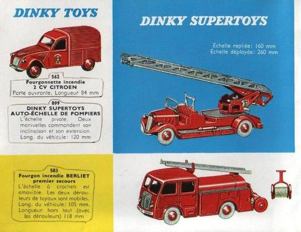 catalogue dinky toys 1960 p12 auto echelle de pompiers cami
