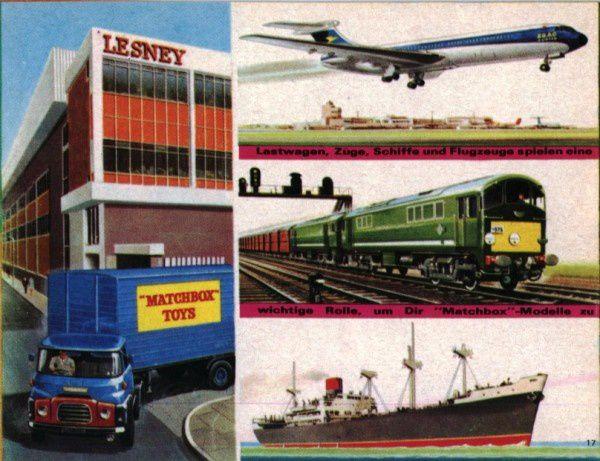 catalogue matchbox 1968 p17 deutsche katalog avions bateaux