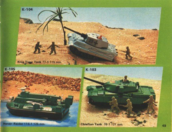 catalogue matchbox 1974-1975 p49 chieftan tank