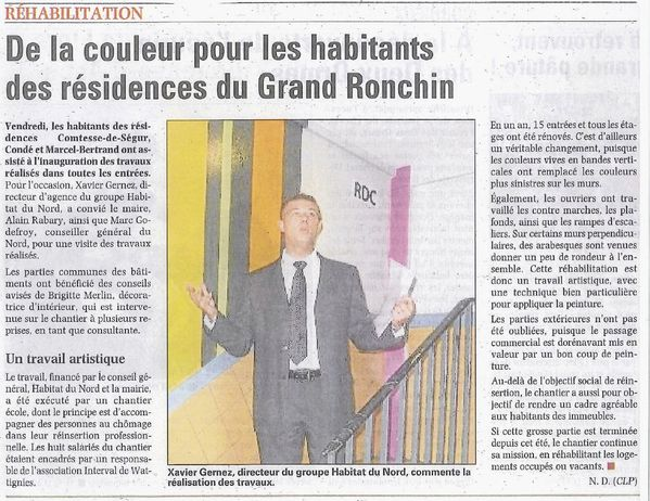 VDN 17 sept 2010 Ronchin chantier ecole