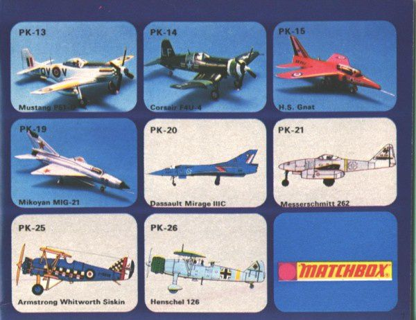 catalogue matchbox 1974-1975 p07 dassault mirage IIIc