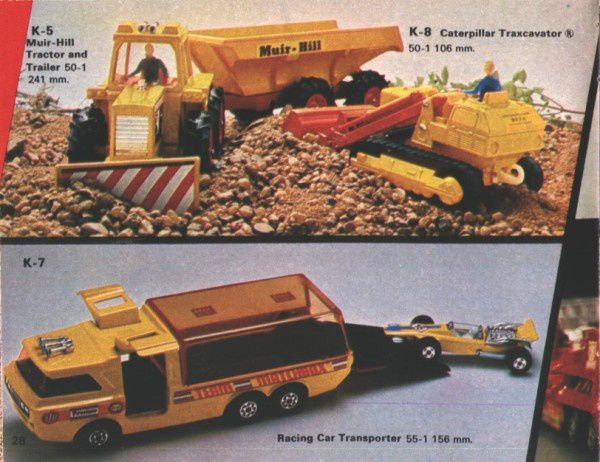 catalogue matchbox 1974-1975 p28 racing car transporter