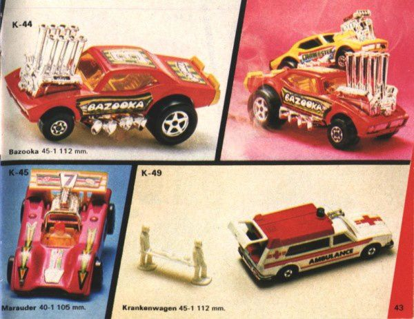 catalogue matchbox 1974-1975 p43 bazooka marauder