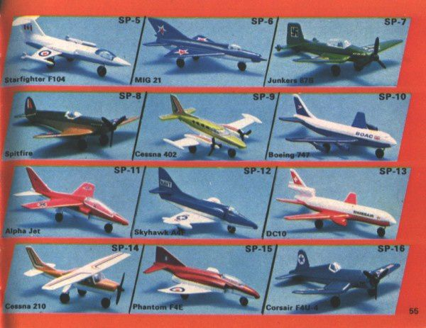 catalogue matchbox 1974-1975 p55 boeing 747 dc10 cessna
