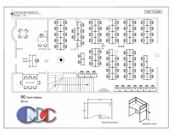 OUTSOURCING FLOOR PLAN DESIGN Call center outbound calls